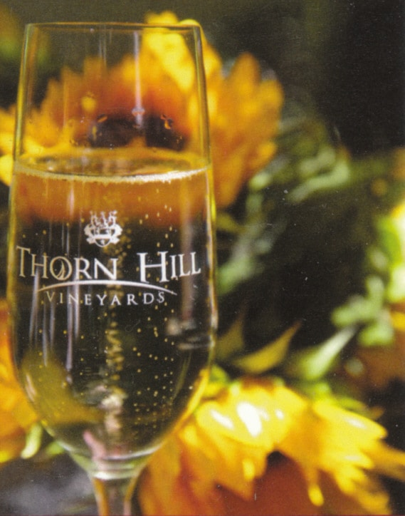 wine tasting, thorn hill champagne glass